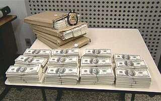 1.3 Mio. US-Dollar sollten am Zoll vorbei ins Land gebracht werden (Foto: globo.com)
