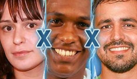 Drei symphatische Kandidaten müssen bei Big Brother Brasil 8 ins Duell: Bianca, Felipe und Marcelo. Einer wird am Dienstagabend das Haus verlassen. (Grafik: bbb.globo.com)
