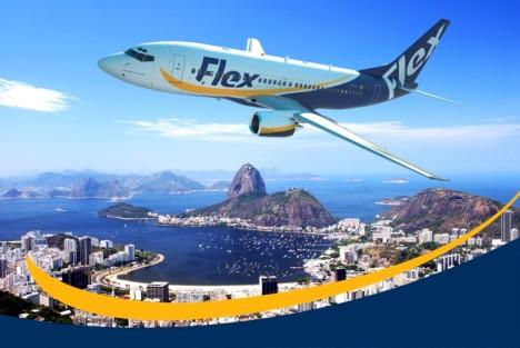 Unter dem Namen 'Flex' will die marode alte Varig als Charter-Airline demächst wieder den brasilianischen Himmel erobern (Foto: voeflex.com.br)