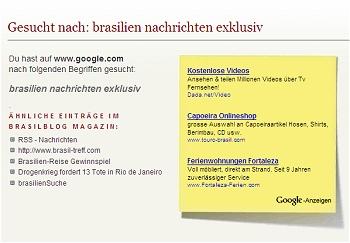 Besucher von Suchmaschinen erhalten ab sofort weitere zusätzliche wertvolle Tips