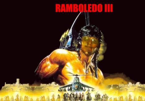 Nach dem Tolednador nun auch noch Ramboledo. Der 'brasilblogger' räumt auf mit den Informationsdefiziten im Netz (Montage: unbekannt)