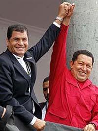 Chávez und Correa symphatisieren nun offen mit der Farc und provozieren Kolumbien (Foto:revolucionaldia.org)