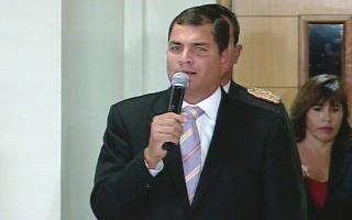 Ecuadors Präsident Correa trägt bislang nichts zur Deeskalation der Krise in Südamerika bei (Foto: globo.com)