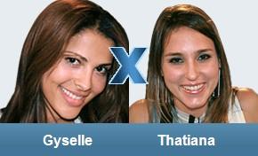 Gyselle und Thatiana stehen sich im Duell gegenüber. Wer zieht am Dienstag aus? (Grafik: bbb.globo.com)