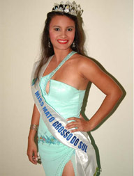 Die schöne India ist neue Miss Mato Grosso do Sul (Foto: Divulgação)