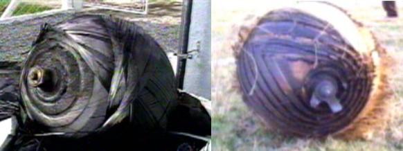 Verblüffende Ähnlichkeit: Links das Objekt aus Brasilien, rechts ein Foto aus 2003 in Guatemala (Screenshots: Rede Record)