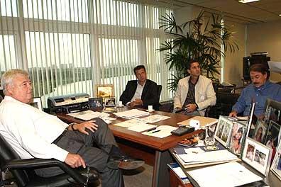Dunga besprach mit CBF-Präsident Teixeira die Planungen für die WM2010 und die Olympiade in Peking (Foto: esportes.globo.com)