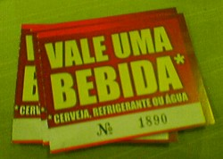 Getränkemarken auf brasilianisch - zur 3 R$ das Stück