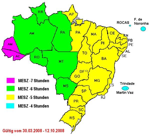 zeitzonen brasilien