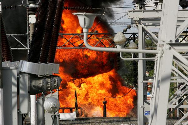 Ein Brand in einem Umspannwerk in São Paulo kappte kurzfristig die Stromversorgung von rund 1 Million Menschen (Foto: AE)