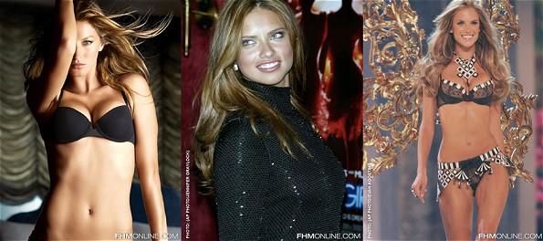 Die brasilianischen Supermodels Gisele Bündchen, Adriana Lima und Alessandra Ambrosio landeten bei der Wahl der '100 Sexiest Woman In The World 2008' der Zeitschrift FHM abgeschlagen im Mittelfeld (Fotos: FHM)