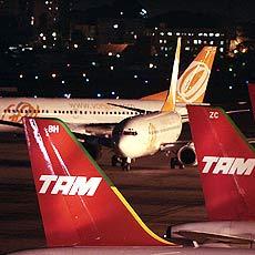 GOL und TAM mussten im vergangenen Jahr trotz Wachstum massive Gewinneinbussen verzeichnen (Foto: Divulgação)