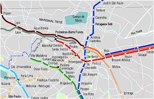 Die Metrô in São Paulo im Juni 2007 (Quelle: metro.sp.gov.br)