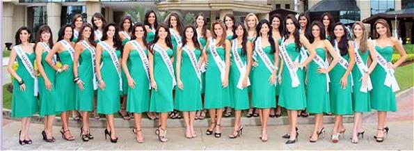 Eine dieser 27 Schönheiten wird am Sonntag zur Miss Brasil 2008 gekrönt. (Foto: missbrasiloficial.com.br)