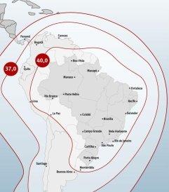 Der Satellit Star One C2 kann in ganz Lateinamerika empfangen werden (Grafik: Star One)