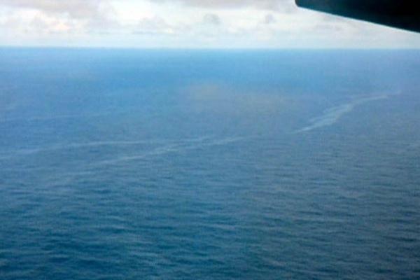 Ölspur im Atlantik - letzte Reste des abgestürzten Airbus