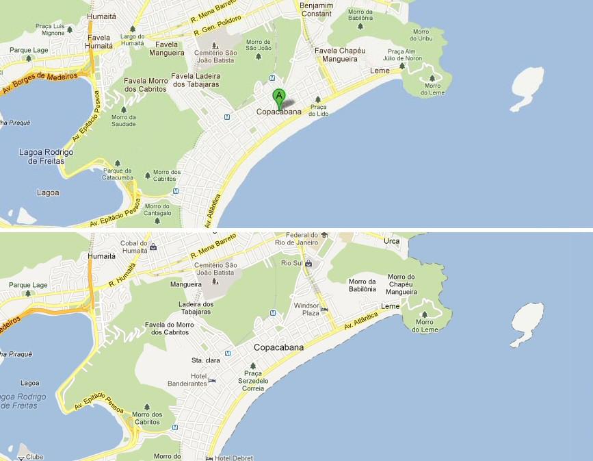 Rio De Janeiro Karte.Google Streicht Favelas Aus Karte Von Rio De Janeiro