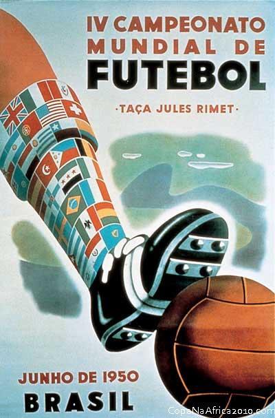Fifa Poster Brasilien 1950